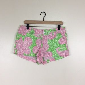 Lilly Pulitzer The Walsh Shorts Pink and Green